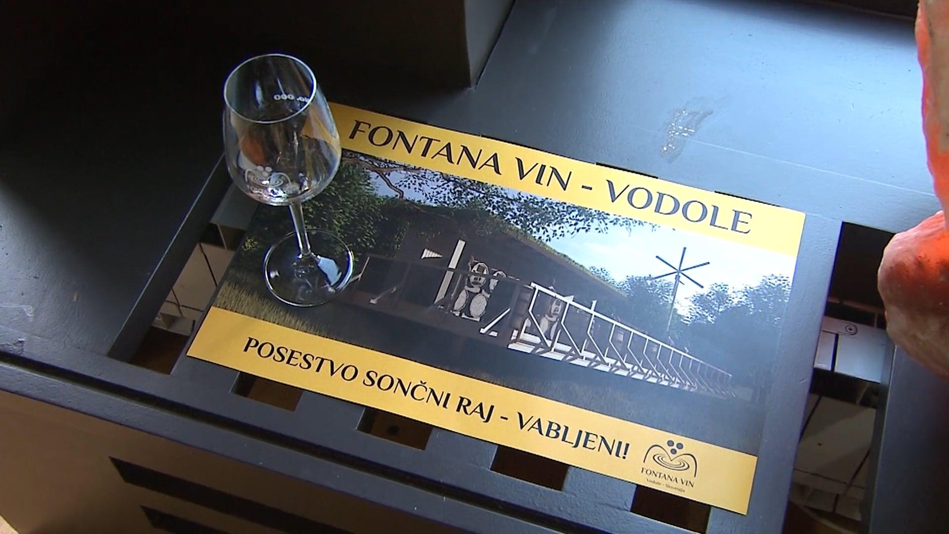 Odpira se največja fontana vin v tem delu Evrope