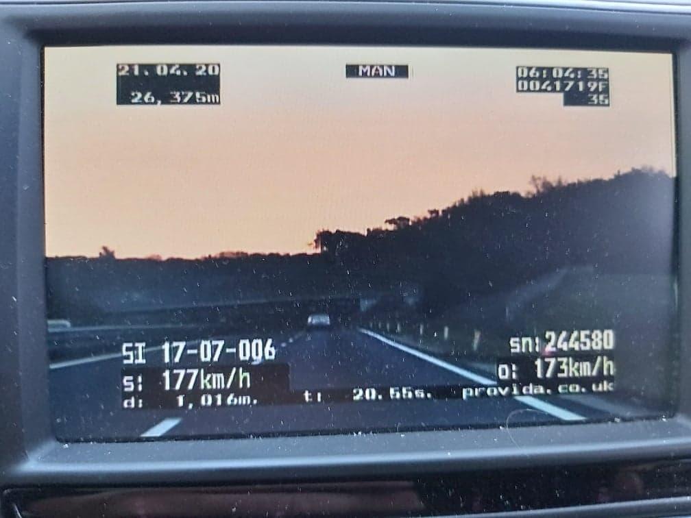 Po pomurski avtocesti je vozil 180 km/h