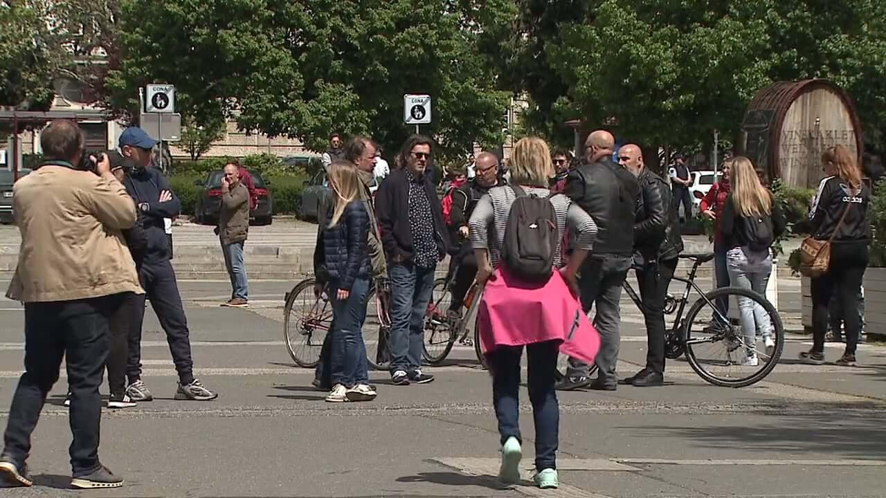 Protivladni protest v Mariboru