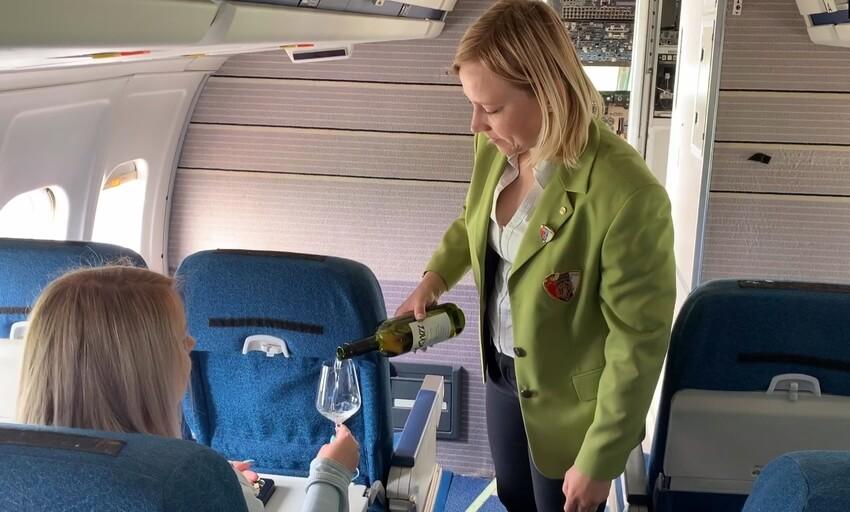 Vinsko doživetje v letalu